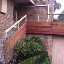 Home Renovation - Timber & Wire Handrail