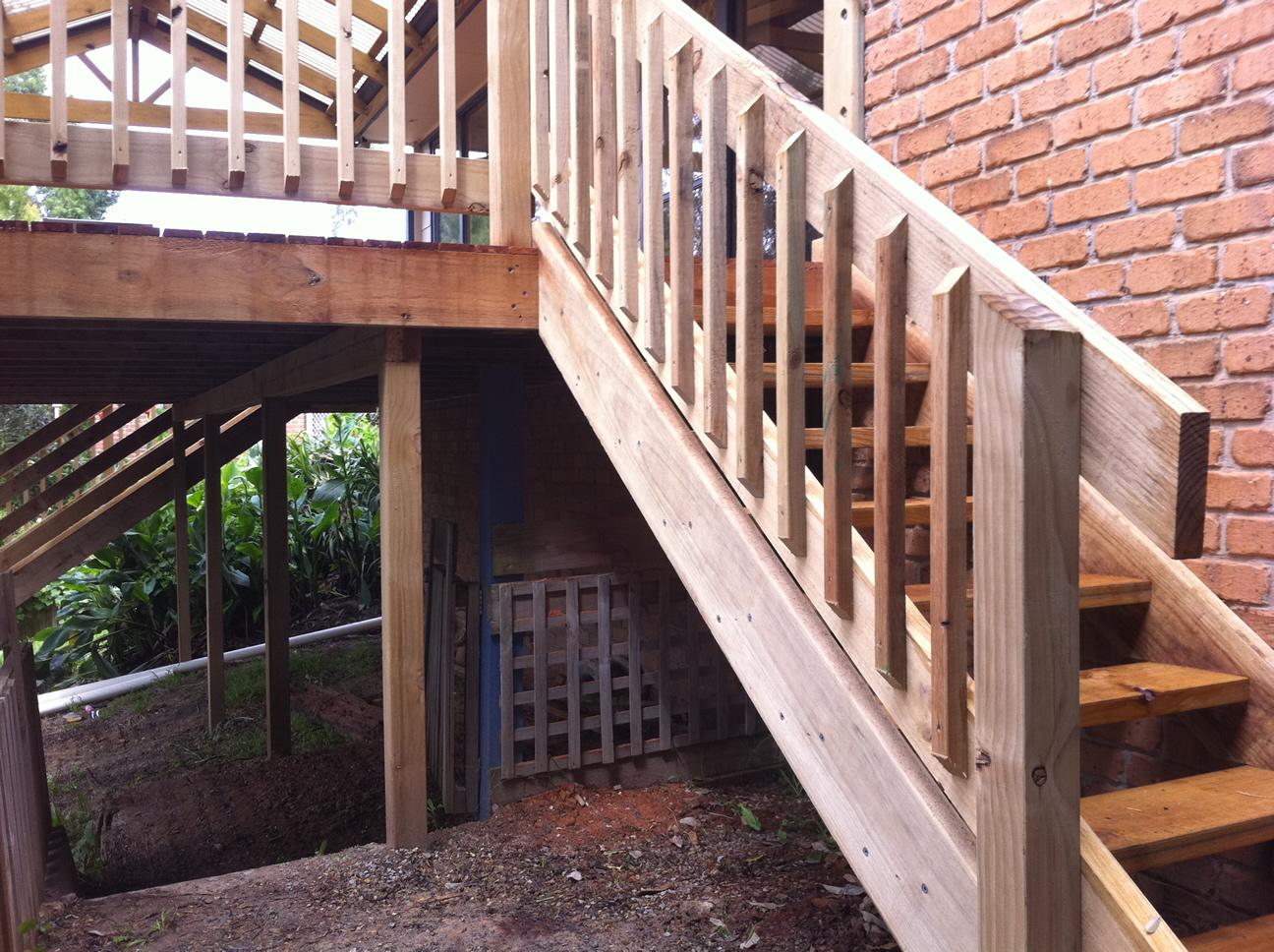 Home Renovation - Timber Steps